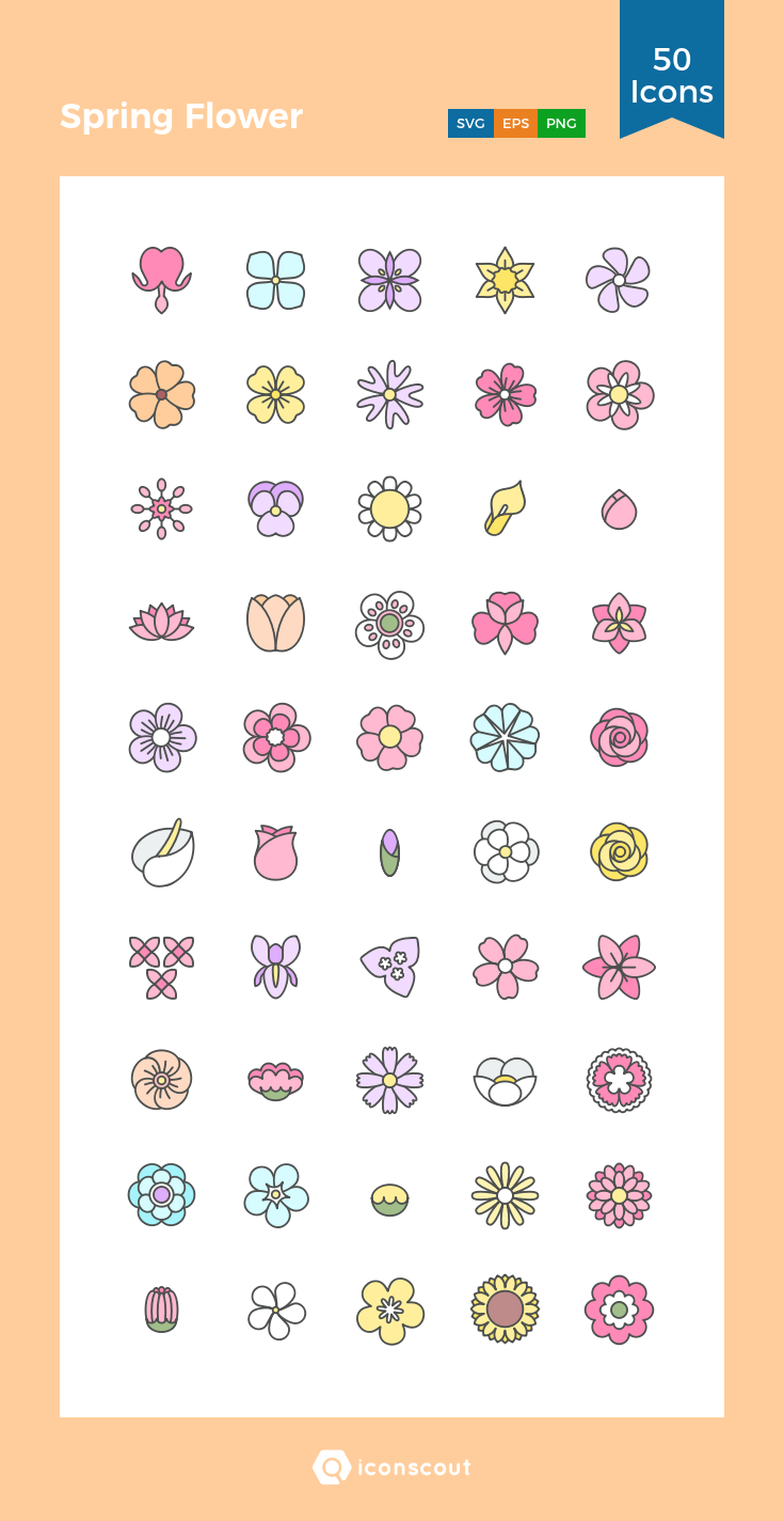 Download Spring Flower Icon pack Available in SVG, PNG