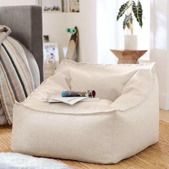 Tweed Charcoal Modern Lounger Lounge Seating Retro
