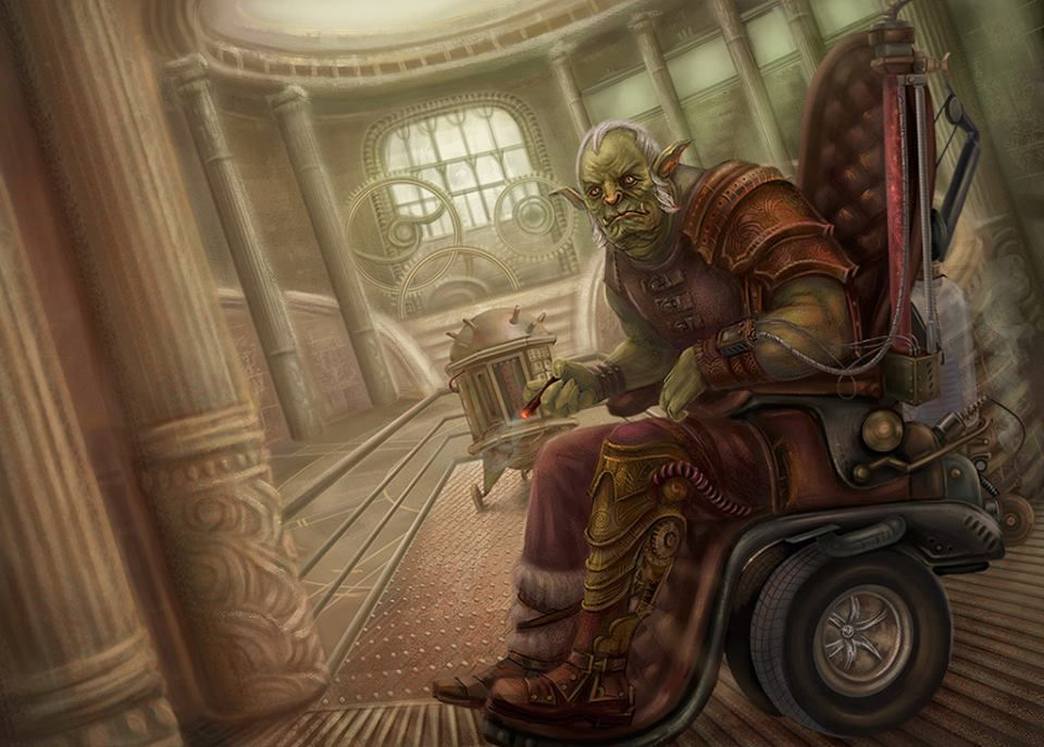 An Uncommonly Refined Gentlemen Orc Illustration By Vasylina
