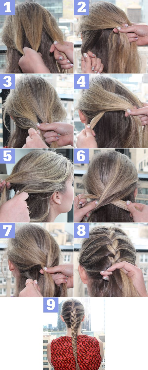 To braid french hair step by recommend to wear in spring in 2019