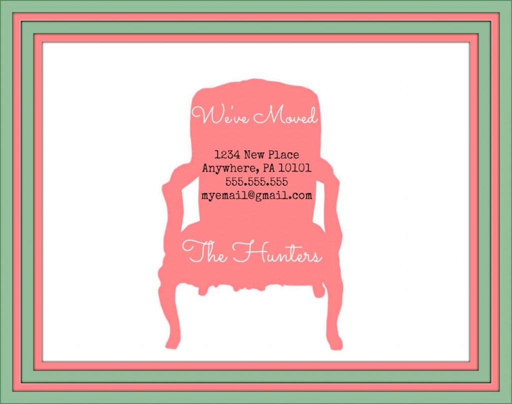 Free change of address printables free printables cards and free change of address printables kristyandbryce Gallery