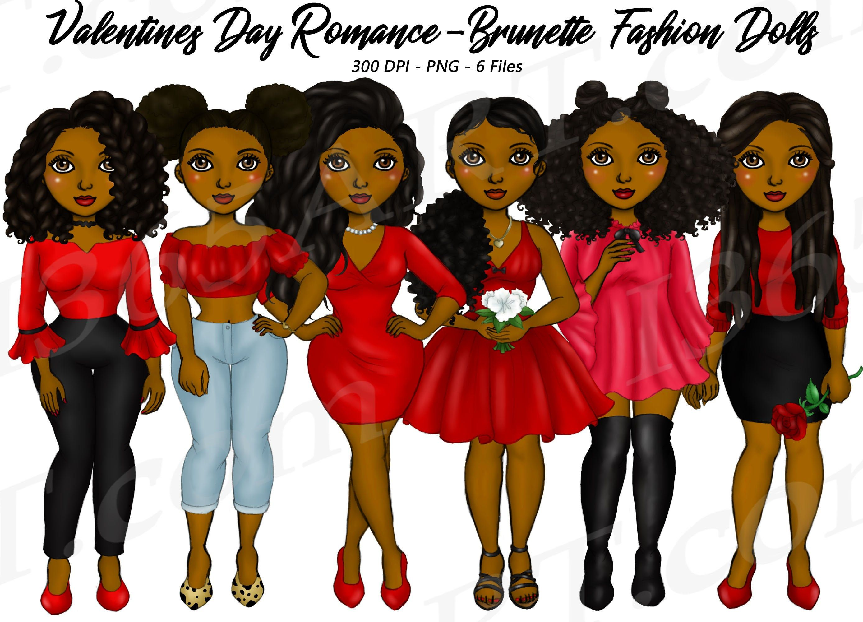 Valentine S Day Girls Clipart Natural Hair Black Girls Etsy In 2020 Black Girl Natural Hair Girl Clipart Valentines Day Clipart