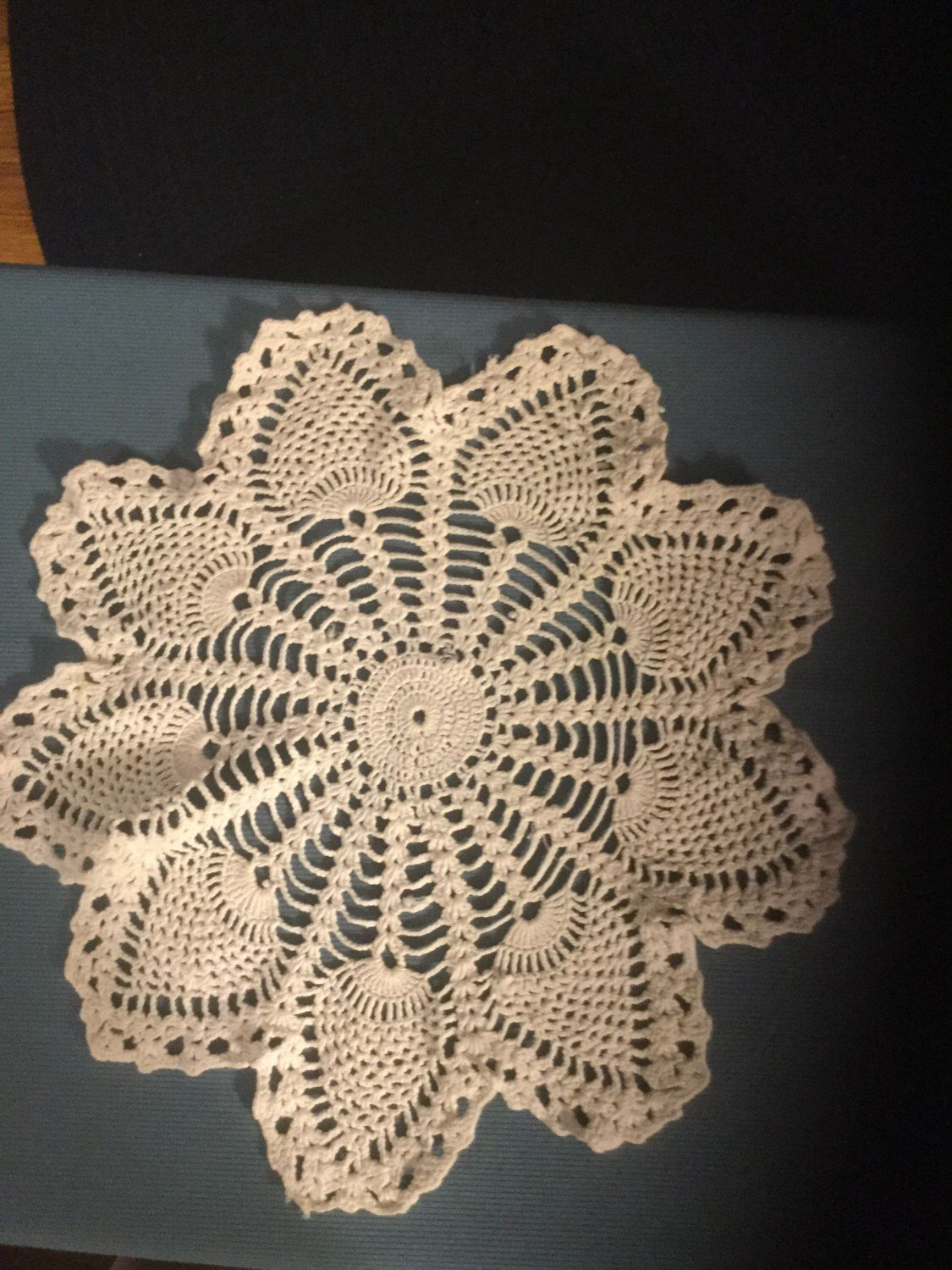 A personal favorite from my Etsy shop https://www.etsy.com/listing/467208192/vintage-white-doily