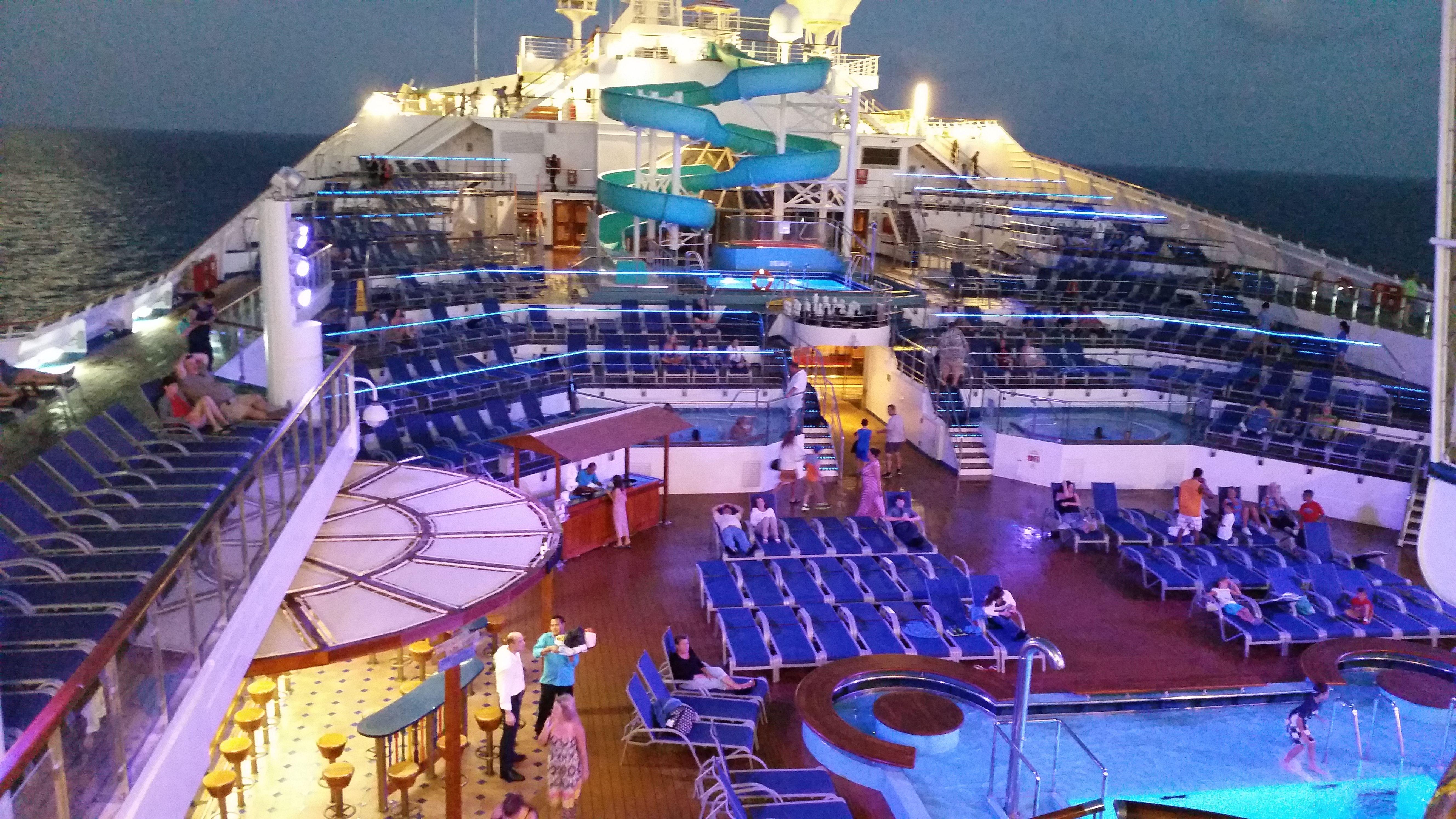 Carnival Triumph Lido Deck Pool Cruising The Open Sea Pinterest Carnival Cruises And