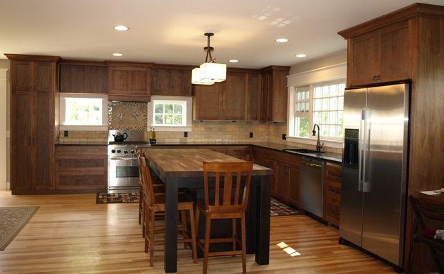 Kitchen Cabinets Ideas walnut shaker kitchen cabinets : Walnut Shaker Kitchen Cabinets - cosbelle.com