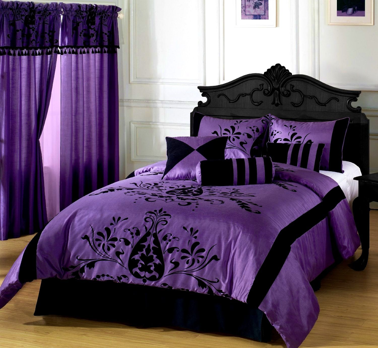 Bedroom:Captivating Gothic Bedrooms Purple And Black Media