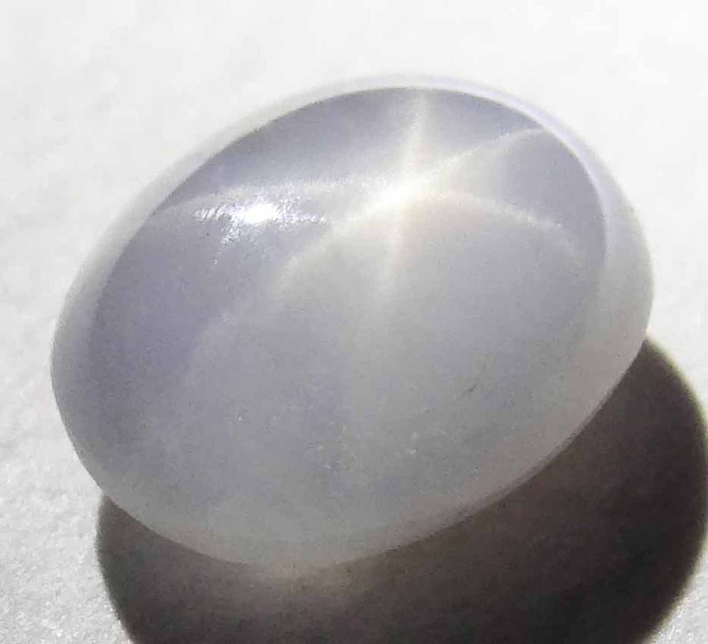 Star Sapphire Natural Untreated Gems White Gray Oval Loose