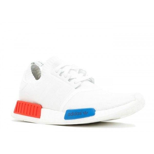 fede autentica adidas nmd runner originali bianco rosso - blu
