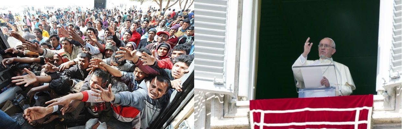 """""""Ogni parrocchia, ogni comunità religiosa, ogni monastero, ogni santuario accolga una famiglia di profughi!"""": questa la direttiva che Papa Francesco ha rivolto ai vescovi di tutta Europa, enfatizzando la parola """"ogni"""", e ricordando che nel giorno del giudizio Gesù ci dirà che tutto quello che abbiamo fatto a uno dei suoi fratelli più piccoli l'abbiamo fatto a Lui (San Matteo 25:40). www.ciai-s.net"""