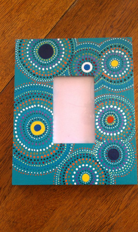 Dotted Circles Hand Painted Frames Painted Picture Frames