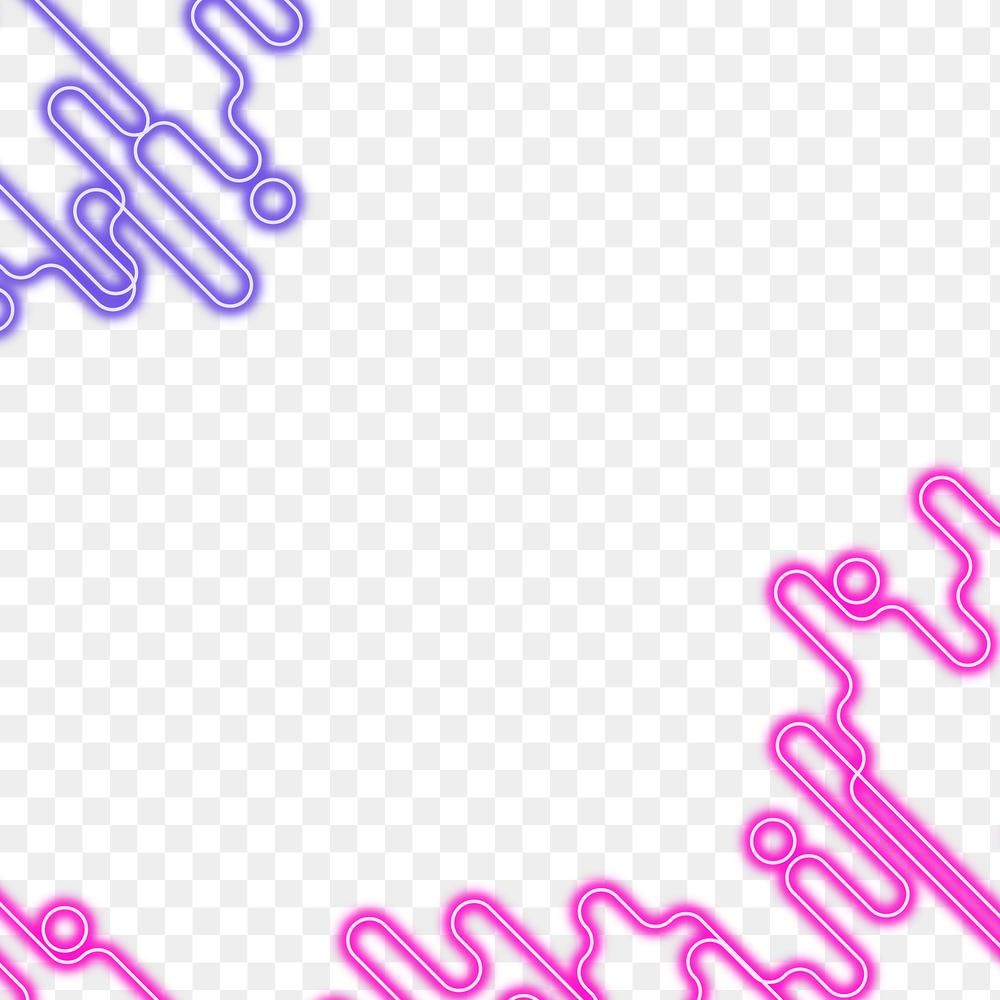 Pink And Purple Neon Abstract Border Design Element Free Image By Rawpixel Com Mind Neon Png Neon Design Element