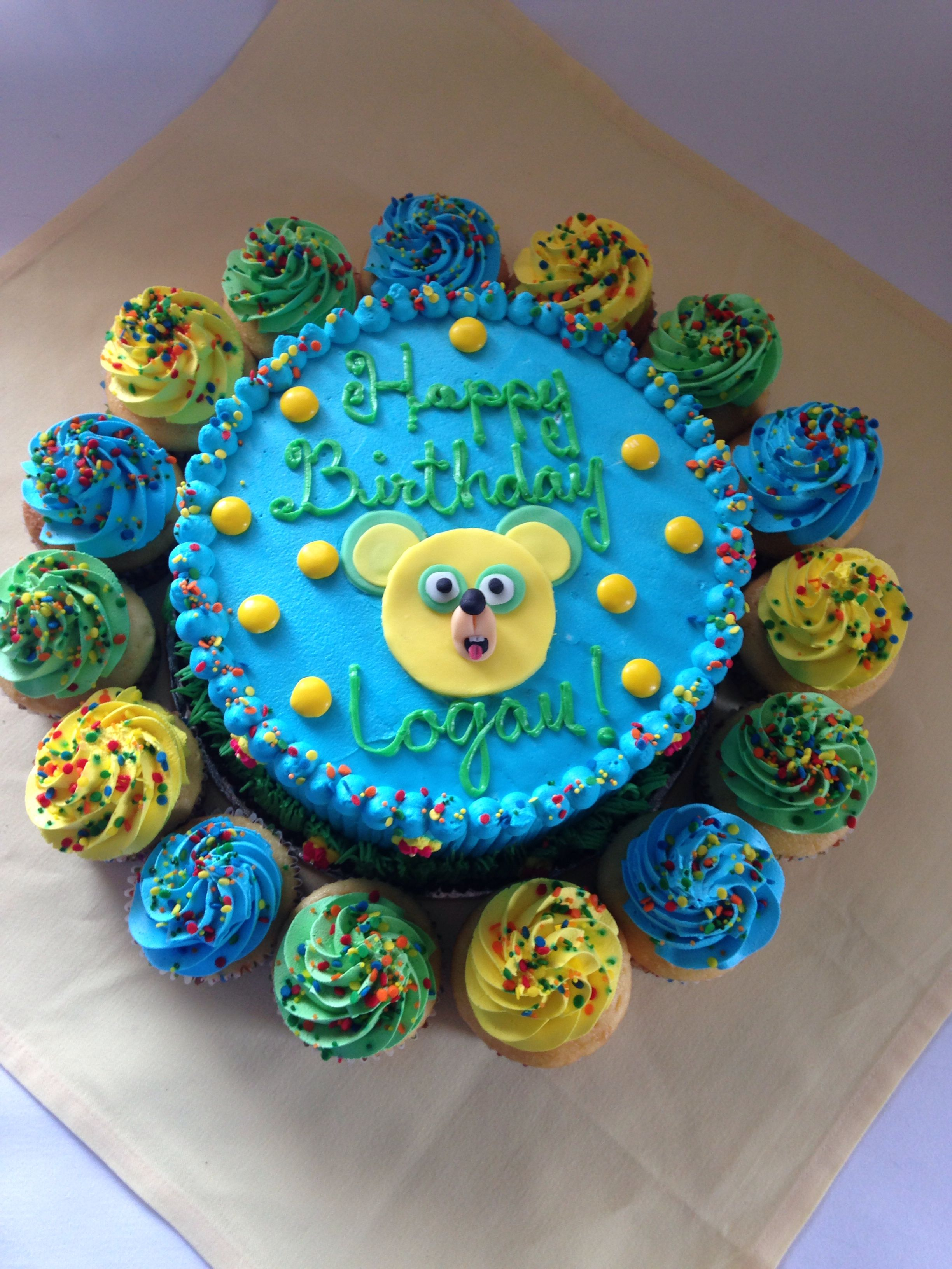 Special Agent Oso Cake With Cupcakes 1st Birthday