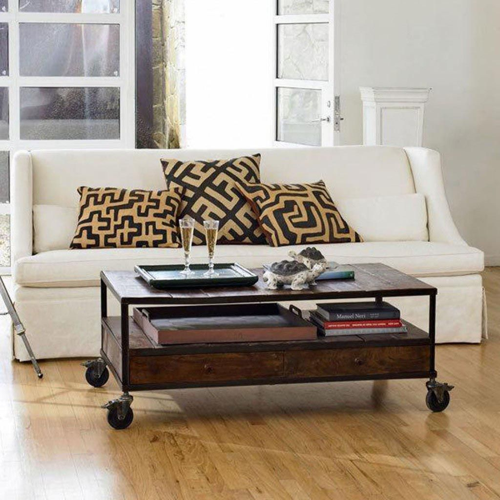 Industrial Coffee Tables With Wheels More