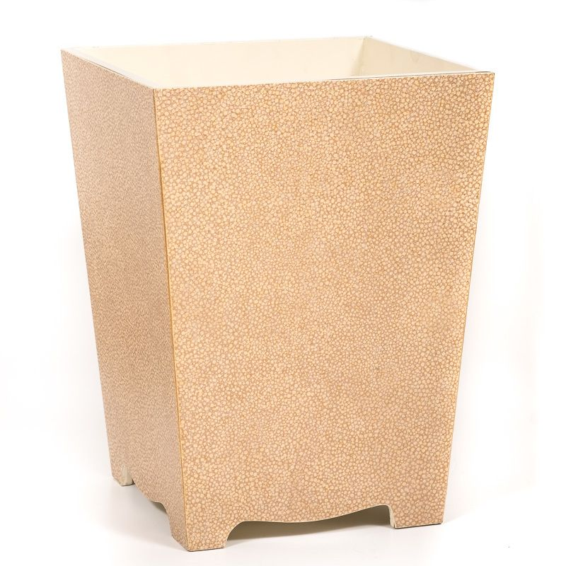 The Galuchat Waste Paper Bin Basket Is A Sumptuous And Decorative Home Accessory