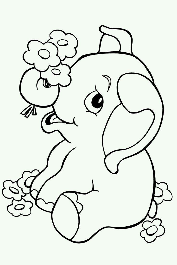 Pin By Shruti Bansal On Dibujos Elephant Coloring Page Animal Coloring Books Animal Coloring Pages