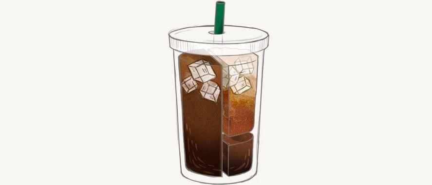 Starbucks Vanilla Latte Coffee Doodle Iced Coffee Drinks