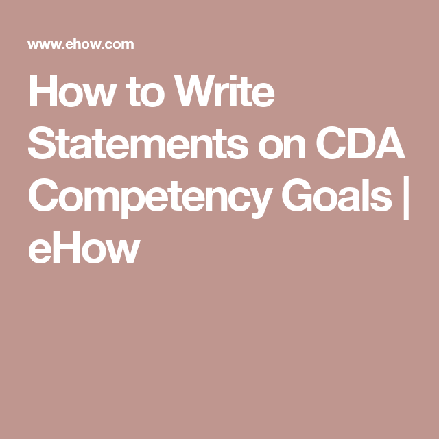 cda competency goal 3 examples