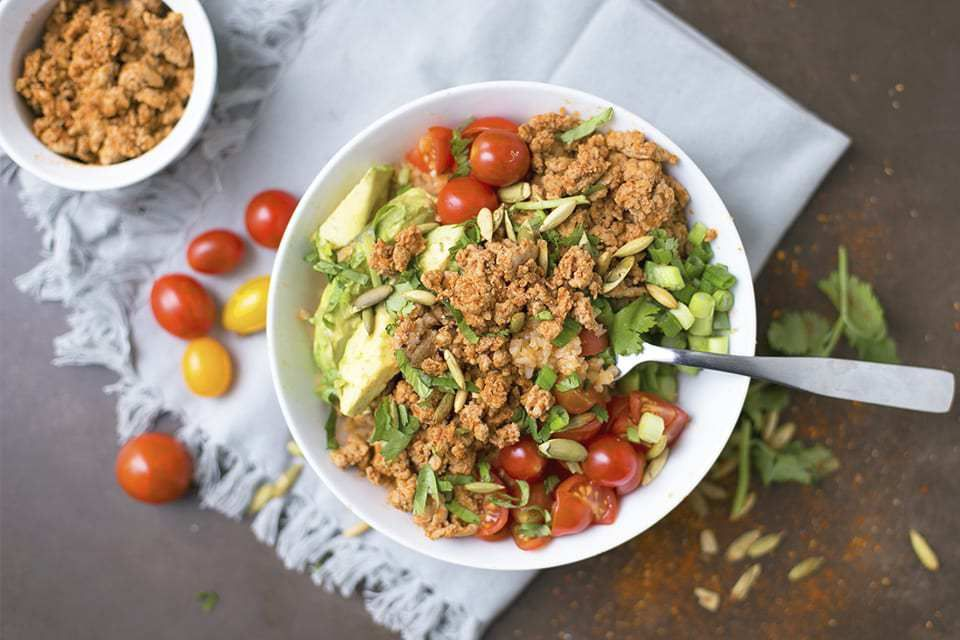 Ground Turkey Taco Bowls with Cauliflower Spanish Rice ...