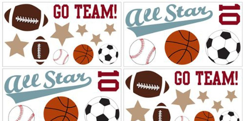 Sports Theme Wall Decals for Kids Bedroom Decor | Easy Home Decor ...