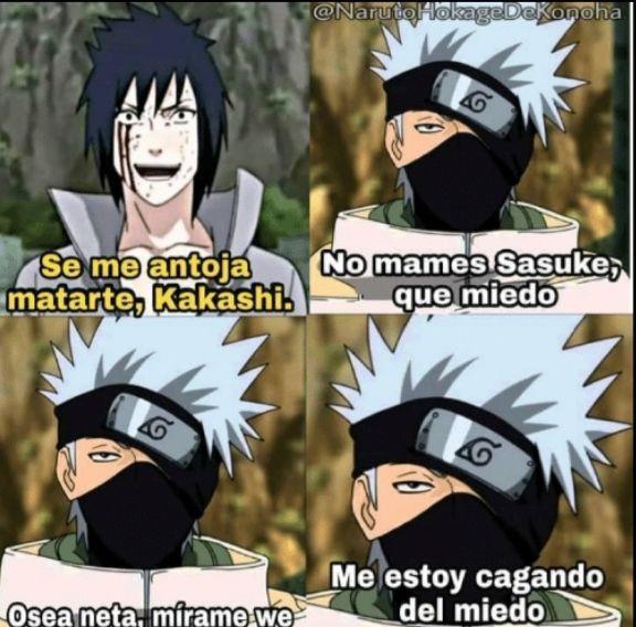 Ella Es Mia Sasuke Kakashi Y Tu Memes Otakus Momentos Divertidos De Naruto Personajes De Naruto