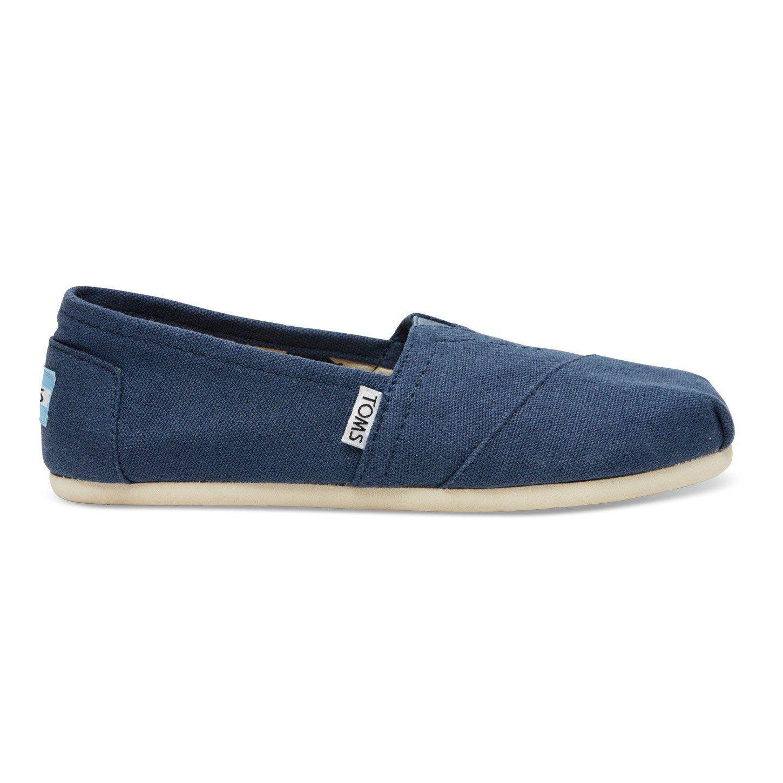Toms Classic Cobalt Womens Canvas Espadrilles Slipons Shoes-4 RMWjn