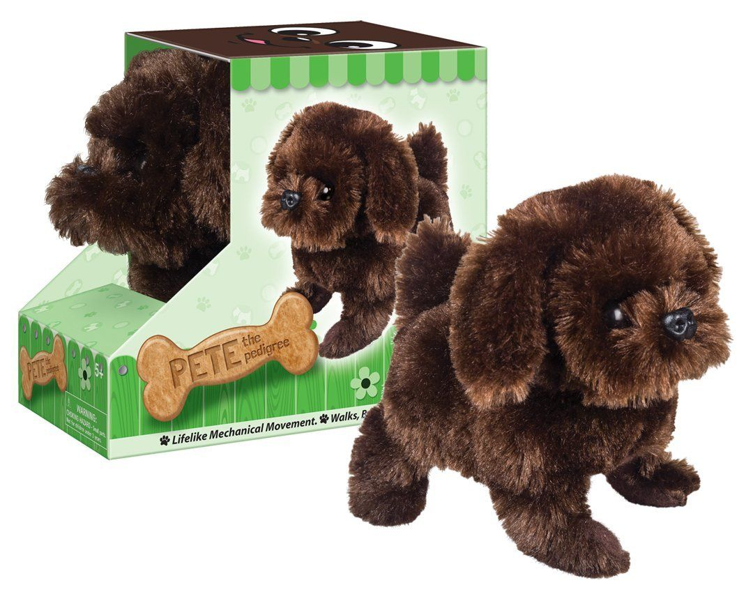 Battery Operated Plush Pete The Pedigree Walking Dog Toy Dog