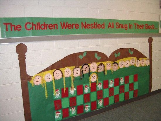 christmas bulletin boards preschool children | christmas hallway elementary | Christmas Bulletin Boards For ...