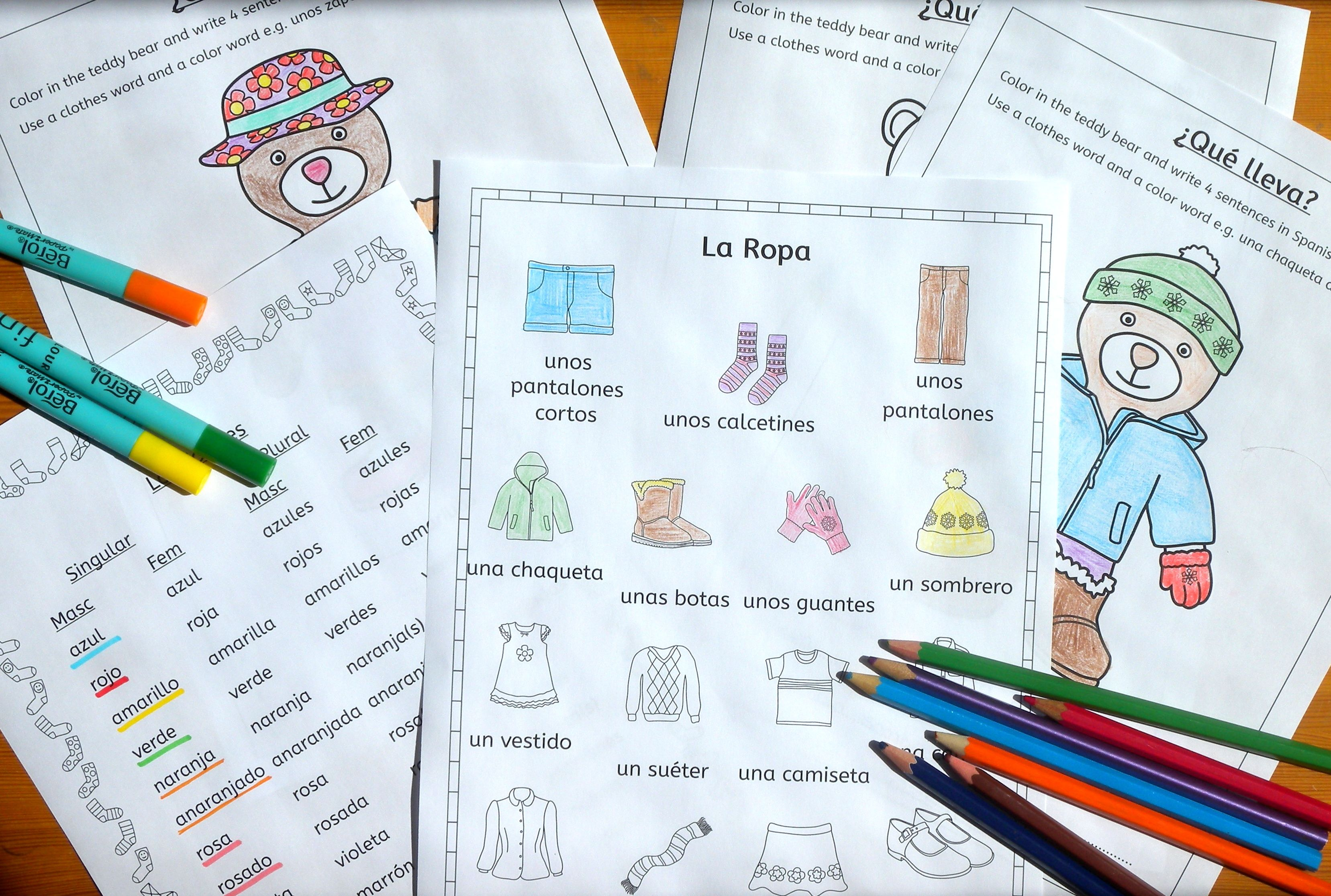 Spanish Clothing And Colors