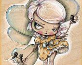 A Walk in the Clouds-Knee Deep in Fairy Tales-Pinkytoast Art Print. $14.00, via Etsy.