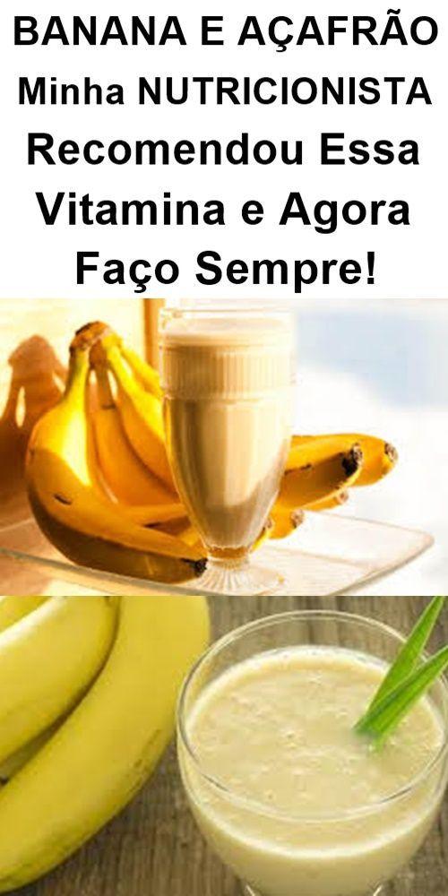 Vitamina De Banana Com Acafrao Otima Pra Sua Saude Vitamina