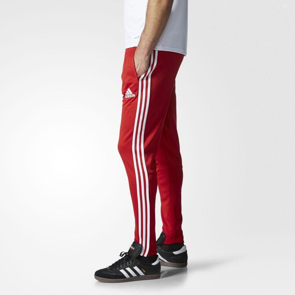 red adidas training pants