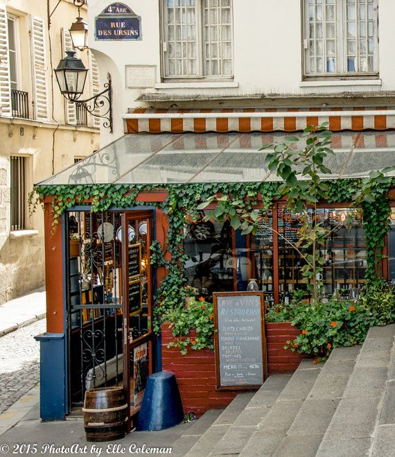 Paris Photgraphy Charming Paris Cafe by iheartparisphotos on Etsy