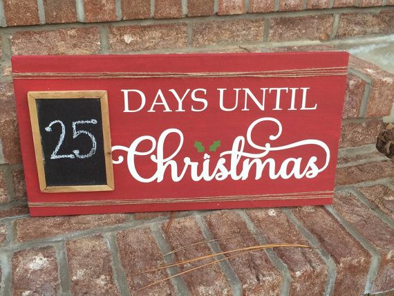 Days Until Christmas Chalkboard Countdown by SassySouthernDarling