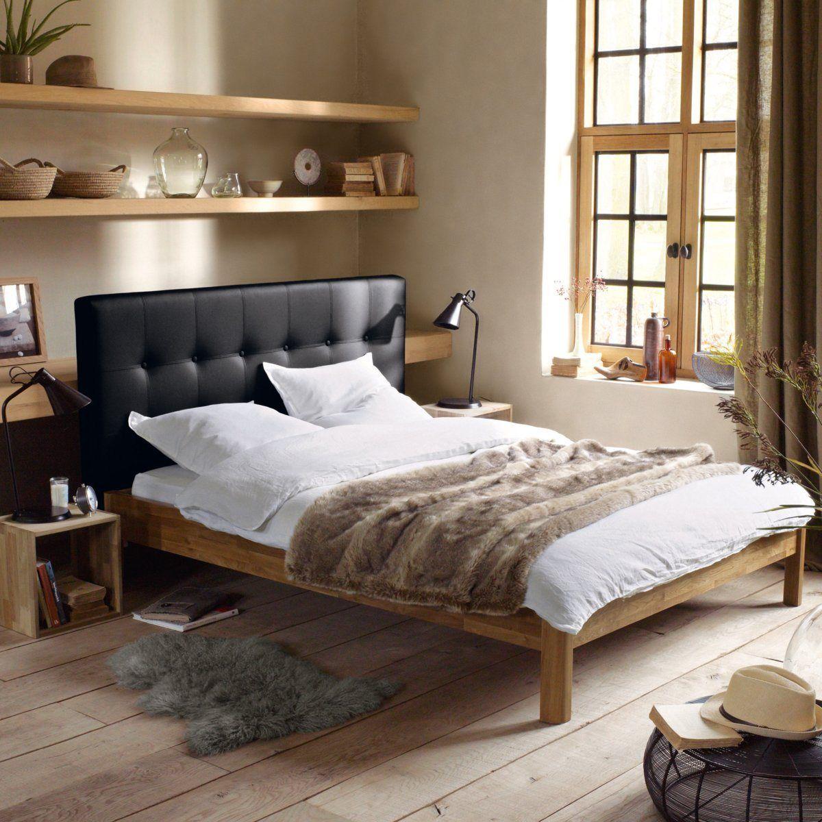 stunning lit chne massif avec ou sans sommier zulda la redoute interieurs la redoute with la. Black Bedroom Furniture Sets. Home Design Ideas