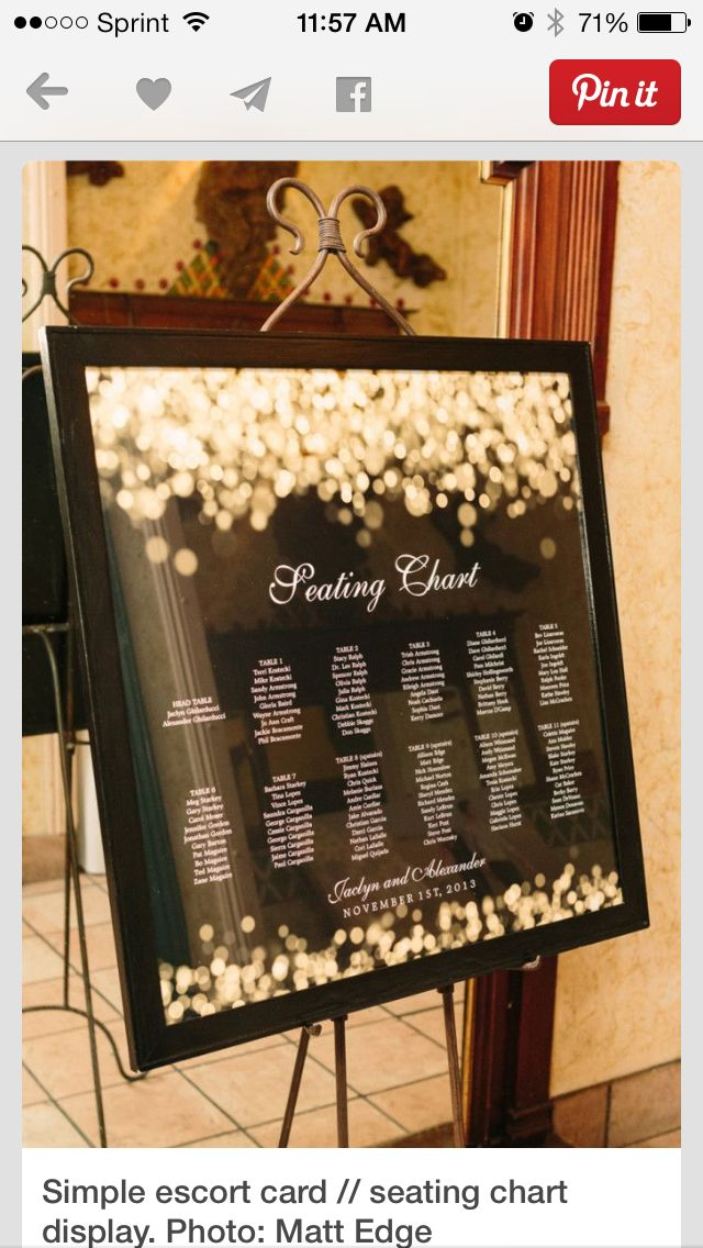 Escort card and seating chart display ideas also jaclyn  alex cards pinterest charts rh