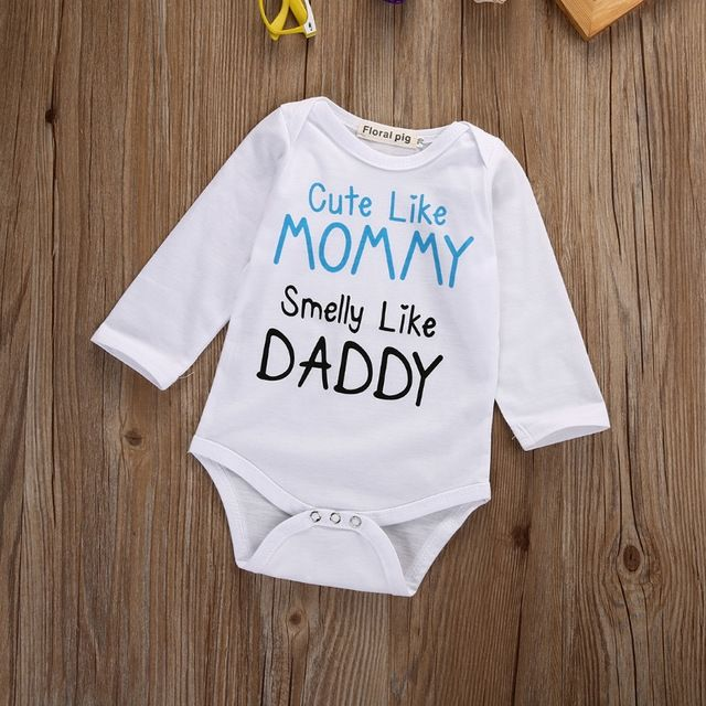 1decce563cb4 Newborn Romper CUTE LIKE MOMMY SMELLY LIKE DADDY Do you like it ...