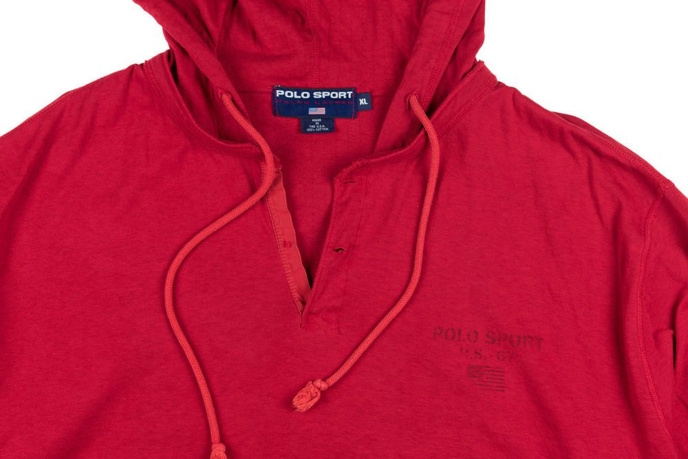 Spellout Lauren Hoodie 18b50 Italy Ralph Red Nwt 85fa9 Polo XiTOkPZu