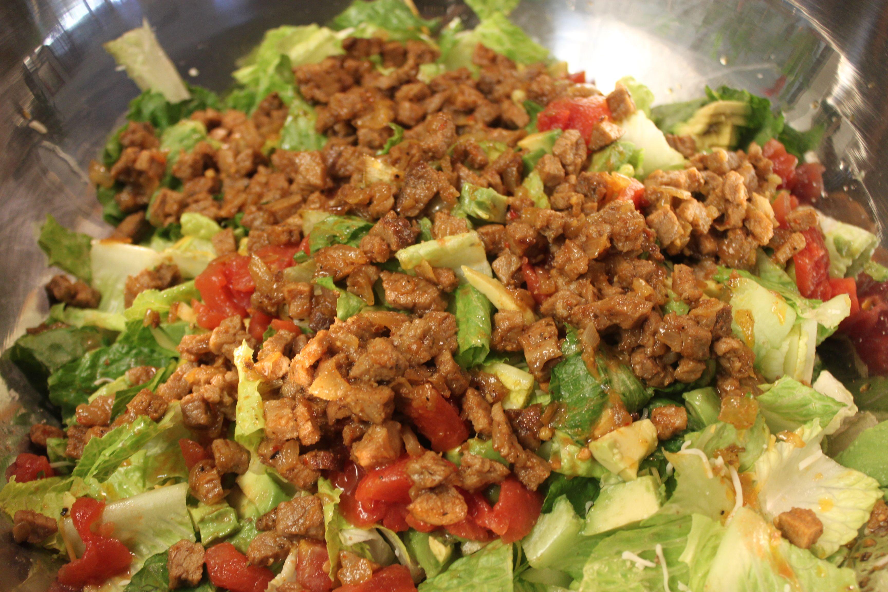 Gluten free steak taco salad taco salad steak tacos