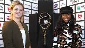 """Tournament director Kim Clijsters and creative director Elodie Ouedraogo look back on successful Diamond Games 2015.   """"Our goal was to bridge the gap between top sport and the visitor experience and I think we achieved that"""", says a proud Elodie. """"We took a lot of initiatives from interior decoration to a wide range of activities. ..Belgian Fashion Show was a great success. The fans,.., the participating athletes ... everybody liked it. The atmosphere backstage was great."""""""