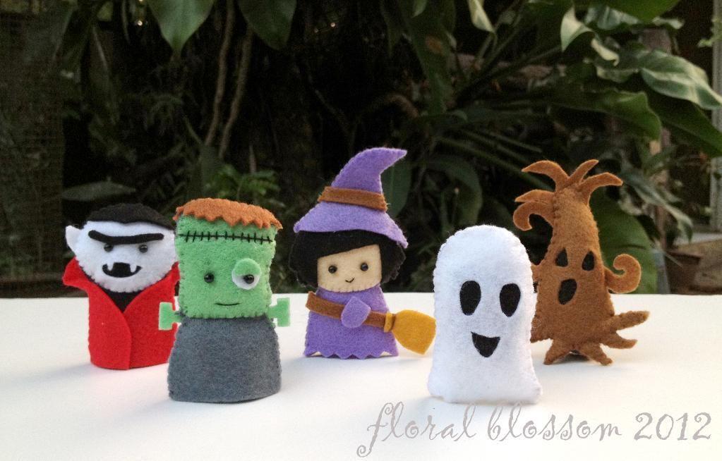 Halloween Friends 02 Felt Finger Puppets