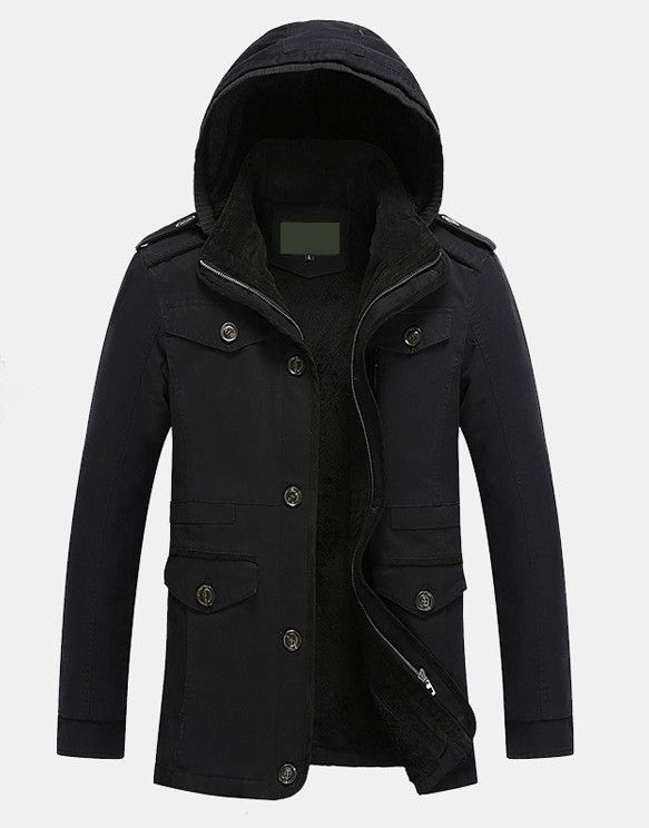 Mens Hooded Winter Coat | Things to Wear | Hooded winter