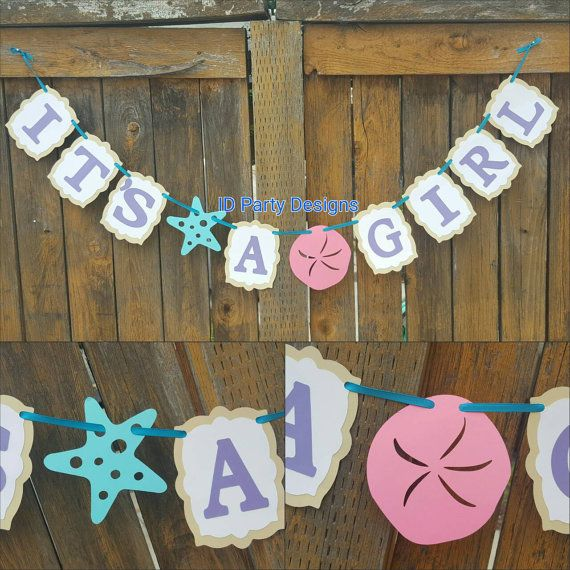 BEACH BABY SHOWER Banner Under The Sea Baby By