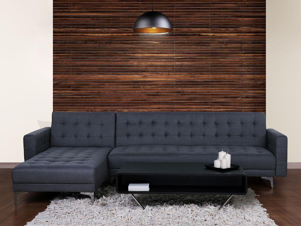 Corner Sofa Bed Fabric Modular R Shaped Button Tufted Grey And Blue Corner Sofa Corner Sofa Bed