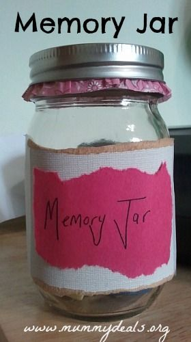 Start a family memory Jar today and record all the important parts of your year! #mummydeals #2014 #resolutions #goals #family