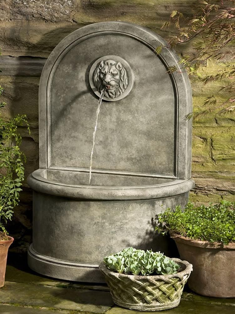 Lion Wall Outdoor Water Fountain Fountains Pinterest Fountain