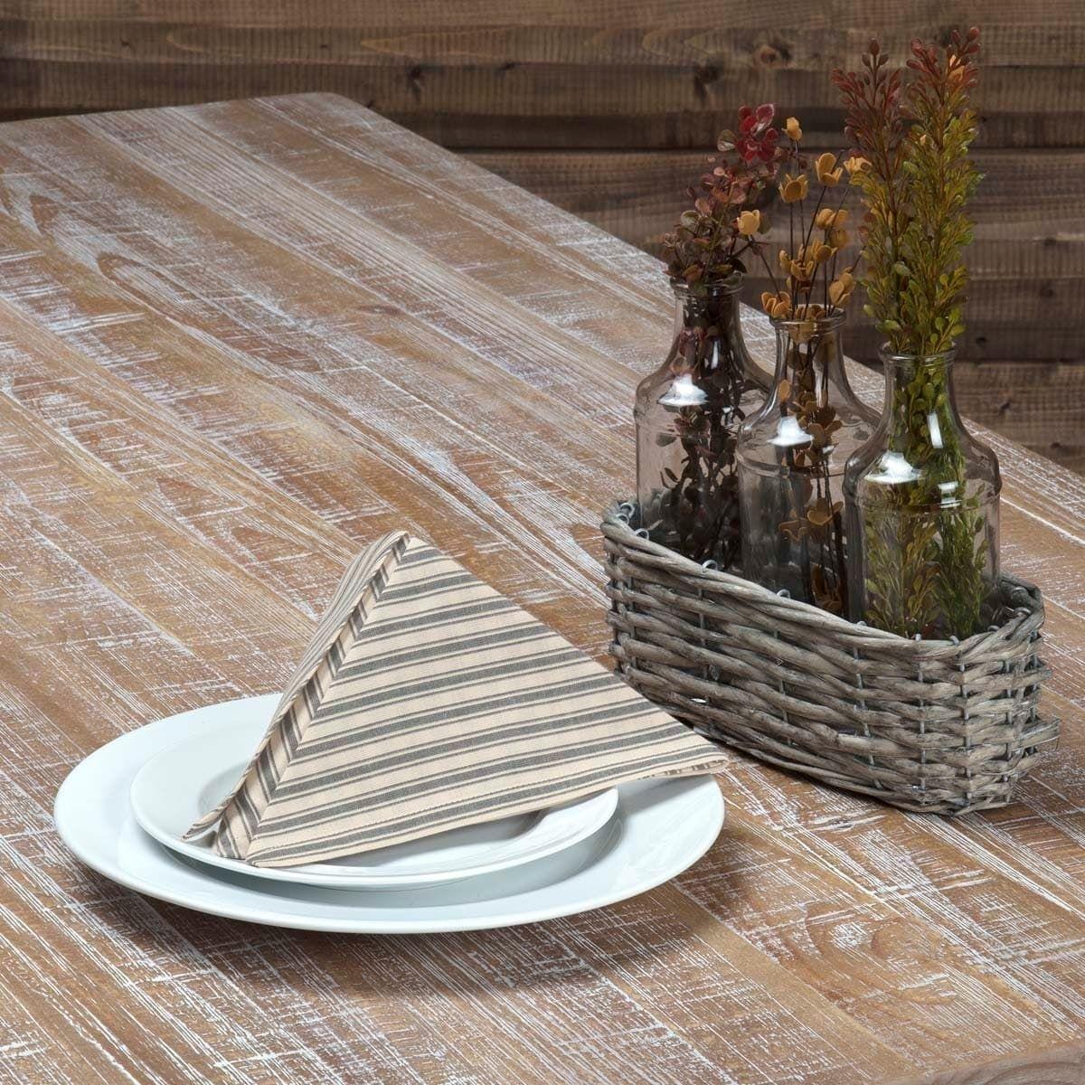 Farmhouse tabletop kitchen vhc kendra stripe napkin set of