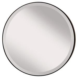 Feiss Johnson 28 5 In W Round Circle Glass Wall Decor Mirror With