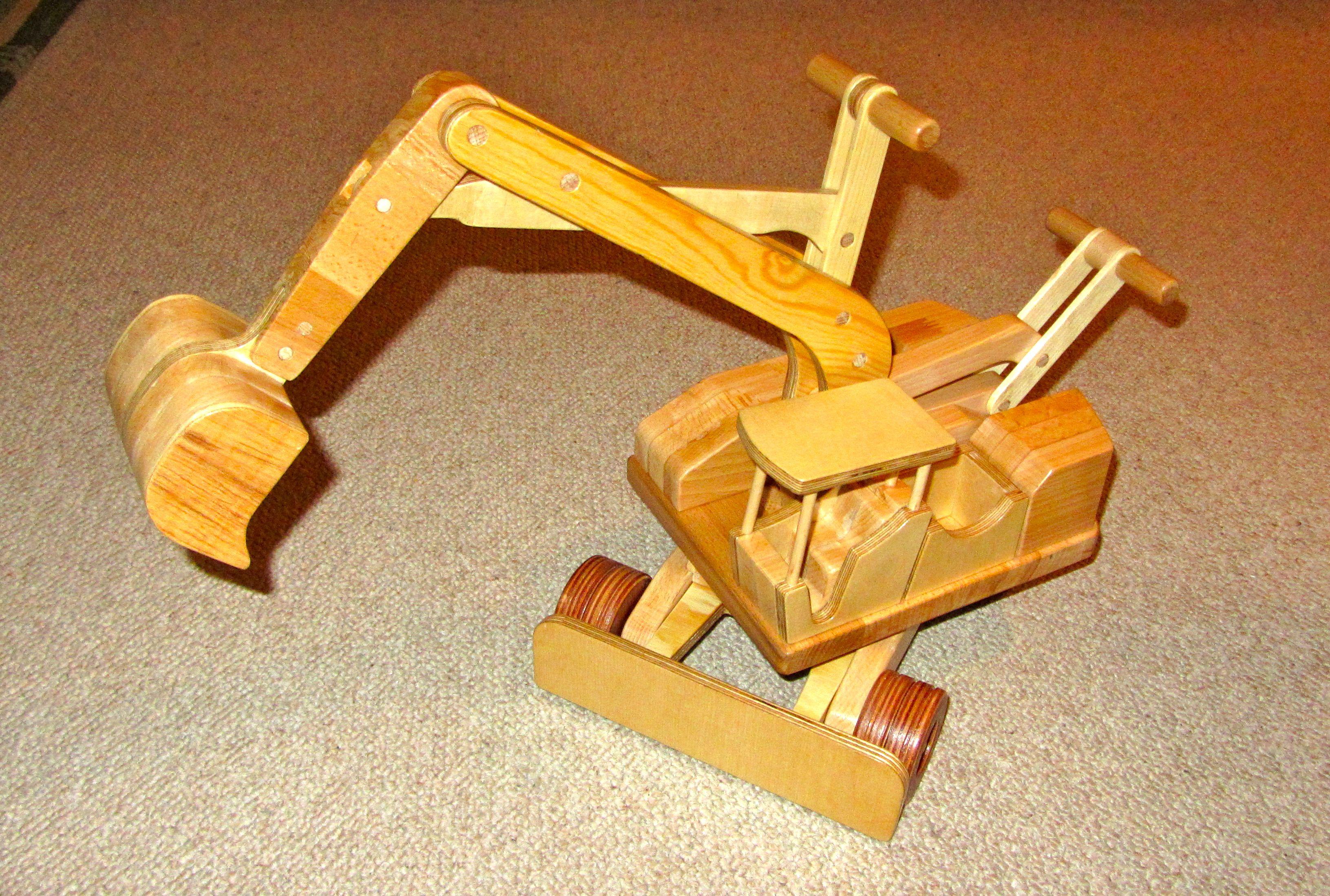 kinder-holzspielzeug, bagger bauanleitung zum selber bauen | toys