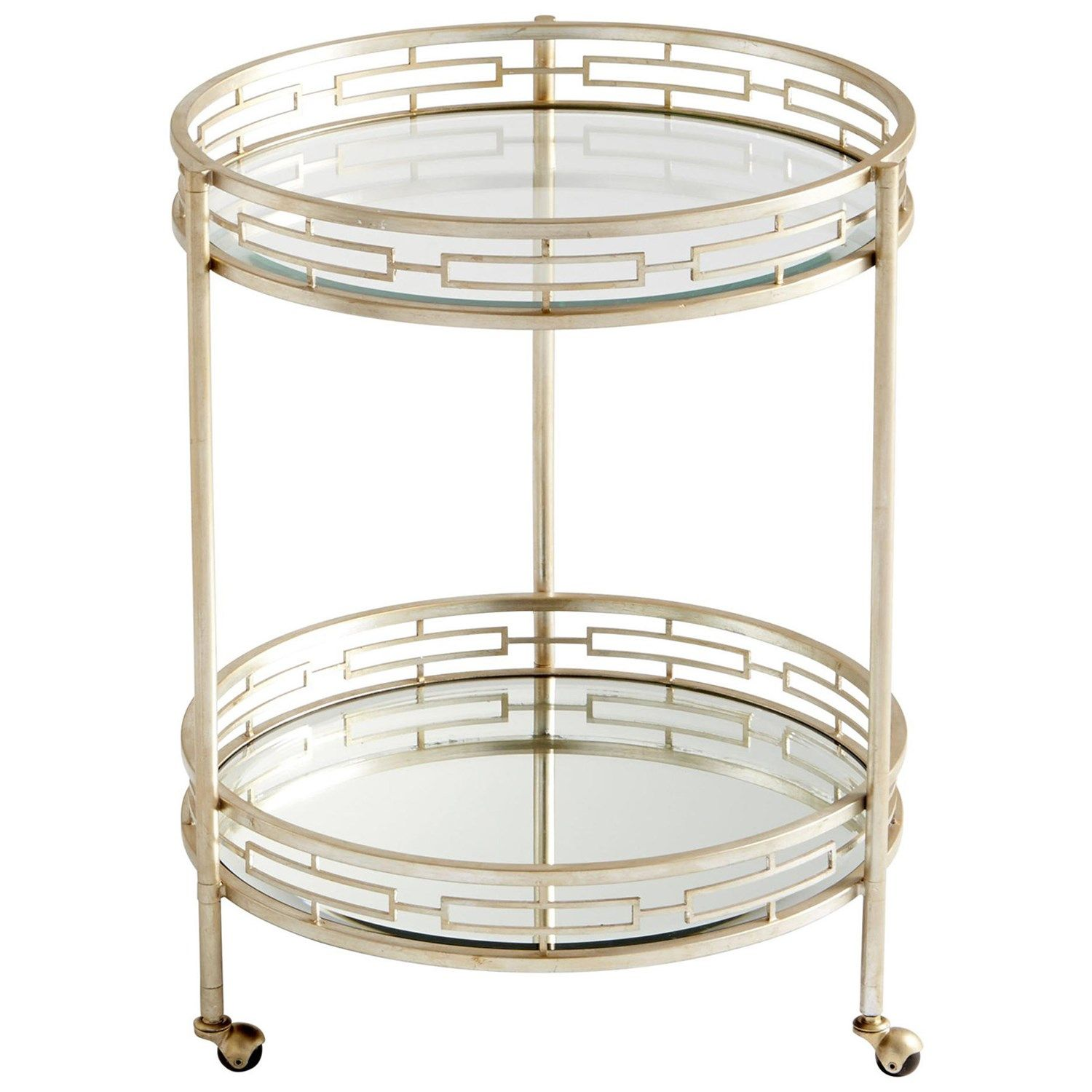 Cyan Design 08831 Gilded Meridian Bar Cart In Antique Silver