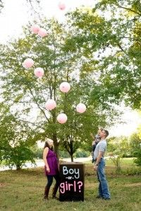 Balloon gender reveal- love the box. Can't wait till we can do this......someday